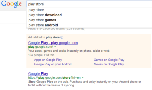 play store on google